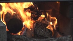 Inside fire pit 4 Stock Footage