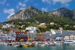 Arriving at the Island of Capri, Italy - stock photo