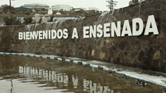 Ensenada Mexico Welcome Sign Bienvenidos a Ensenada B-Roll 2 Stock Footage