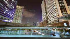 Bangkok cty at night time lapse 4K Stock Footage