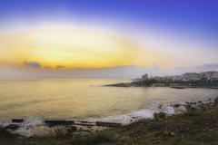 sunset in alghero - stock photo