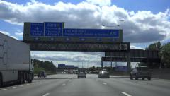 POV Driving Shot M25 Motorway - London, Heathrow, England Stock Footage