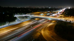 San Diego 405 Freeway Night - Los Angeles Stock Footage