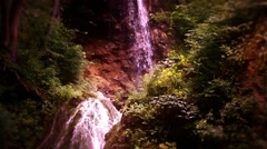 Waterfall Lillafured Hungary 14 fairy tale - stock footage