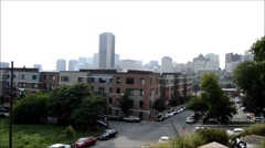 City street scape hill Stock Footage