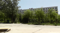 Block Buildings in Gansu Province China 1 Stock Footage