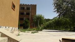 Block Buildings in Gansu Province China 2 pan - stock footage