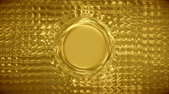 Infographics Crystal and Gold Stock Footage