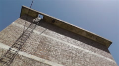Brick Building Wall tilt up down Stock Footage