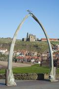 whalebone arch in whitby, north yorkshire - stock photo