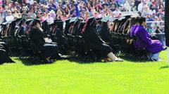 High school graduation - stock footage