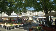 Farmers Market - Bergerac France - HD 4k+ Stock Footage
