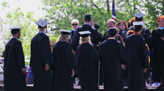 High school graduation Stock Footage