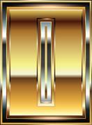 Ingot font illustration letter l Stock Illustration
