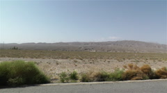 Driving in Gobi Desert China 1 Stock Footage