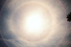 Stock Video Footage of 6K Time Lapse of Halo -A Perfect Circular Rainbow around the Sun-