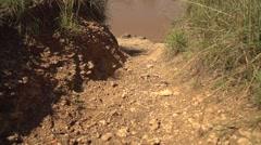 Walking in Slow Motion in Maasai Mara, Kenya Stock Footage