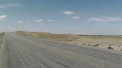 Gobi Desert Southern Part in Gansu China 1 pan Stock Footage