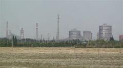 Industrial Area in Gobi Desert Gansu China 1 Stock Footage