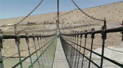 Jiayuguan Great Wall Western Pier 14 suspension bridge Stock Footage