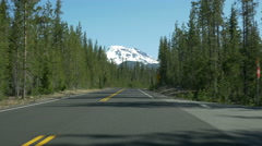 Drive lapse of Cascades Lakes Scenic Byway, Central Oregon Stock Footage