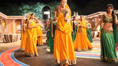 Female Dancers in the temple Stock Footage