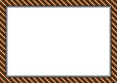 Pixel styled border (frame) in christmas colors Stock Illustration