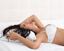 Woman having orgasm Stock Photos