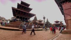 Patan Durbar Square (Timelapse), Nepal Stock Footage