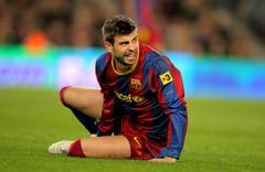 Gerard Pique of Barcelona Stock Photos