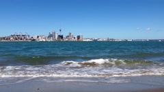 Auckland skyline, New Zealand Stock Footage