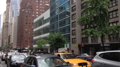 Ambulance with siren with sound and lights in Manhattan, New York City, USA Stock Footage