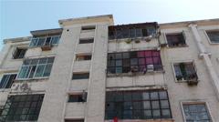 Jiayuguan Street Block Building Gansu Province China 28 tilt Stock Footage