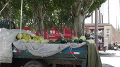 Jiayuguan Street Gansu Province China 3 Stock Footage