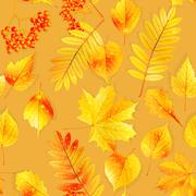 Swatch ready detailed seamless wet leaves. - stock illustration