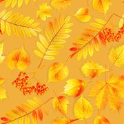 Swatch ready detailed seamless wet leaves. Stock Illustration