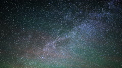 Astrophotography Time Lapse of Milky Way & Lone Rock in Lake Powell -Sky- - stock footage
