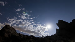 Epic mountain cloud time lapse Vasques Rocks 01 Super moon Stock Footage