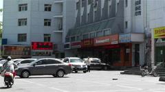Jiayuguan Street Gansu Province China 18 - stock footage