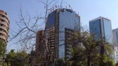 Office buildings in Santiago de Chile Stock Footage