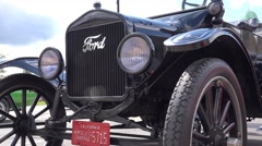 Transport Vintage Car Ford Model T Horseless Carriage Tin Lizzie Stock Footage