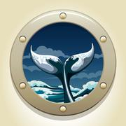 Whale tail Stock Illustration