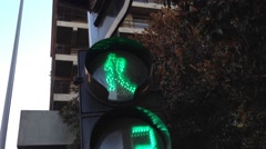 Traffic light in Santiago de Chile Stock Footage
