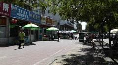 Jiayuguan Street Gansu Province China 34 market Stock Footage