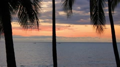 Tropical Island Sunset Stock Footage