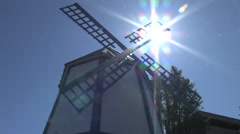 1440 Scandinavian Windmill at Festival in Junction City, Oregon 3 - stock footage
