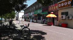 Jiayuguan Street Gansu Province China 36 market Stock Footage