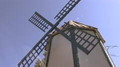Scandinavian Windmill at Festival in Junction City, Oregon - stock footage