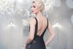 Beautiful woman in luxury interior Stock Photos