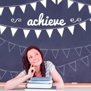 Stock Illustration of Achieve against student thinking in classroom